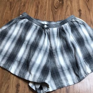 Pacsun Gypsy Warriors Plaid Flannel Sleep Shorts S